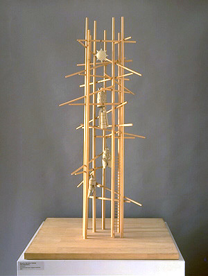 Isamu Noguchi Model Of Bell Tower For Hiroshima 1950 Wood And Ceramic Unrealized Photo By Kevin Noble Courtesy The Museum